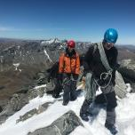 Climbing-Queenstown-Mountain-Guides-guided-walks-Mountaineering on single cone