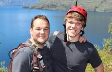 Climbing-Queenstown-Mountain-Guides-guided-walks-Olly and Dan Pose
