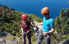 Climbing-Queenstown-Remarkables-Alpine-Becca Abseil at Sunshine Bay